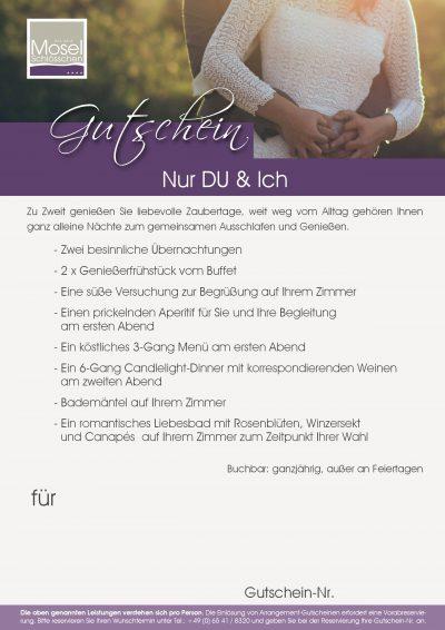 Arrangement Nur DU & Ich