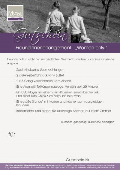 """Freundinnenarrangement - """"Woman only!"""""""